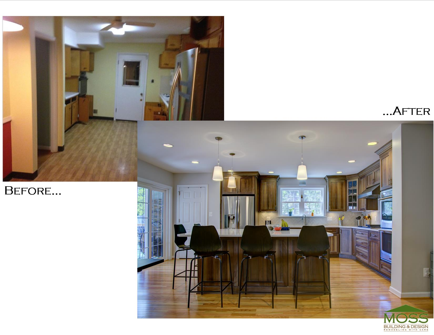 Photo Before and After Allen Kitchen