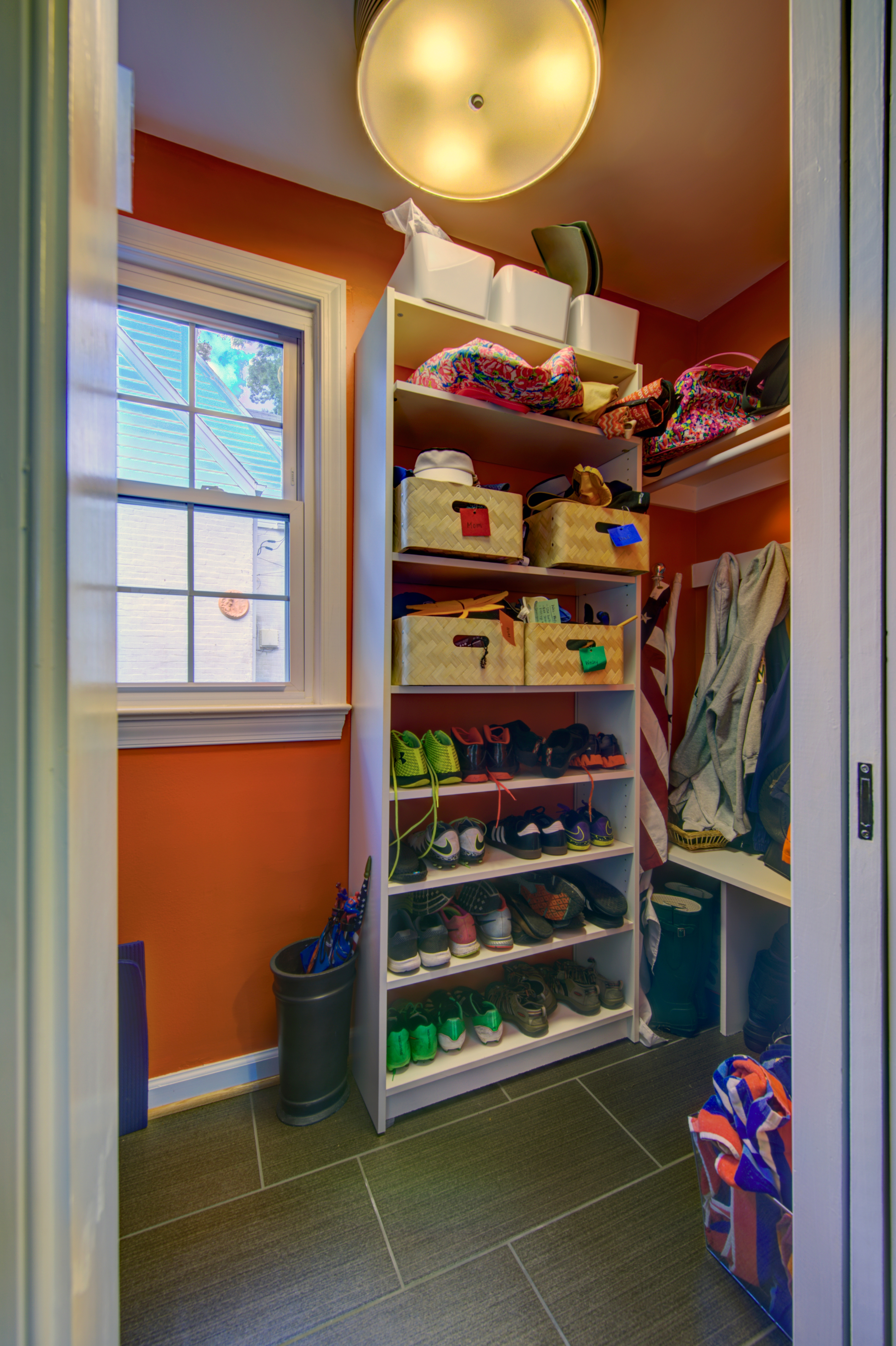 Photo Before and After Allen Mud Room