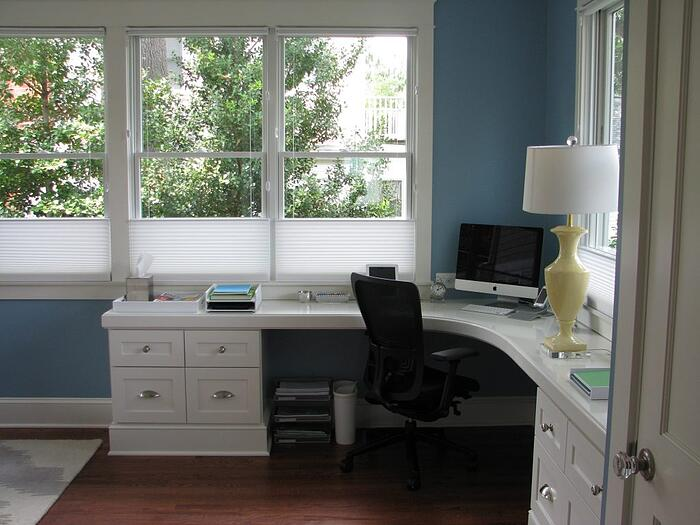 home office additions white with mac