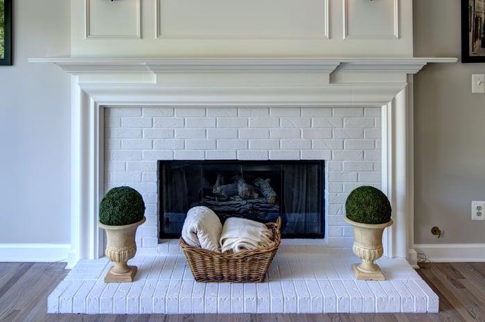 Design Inspiration White Brick Fireplace