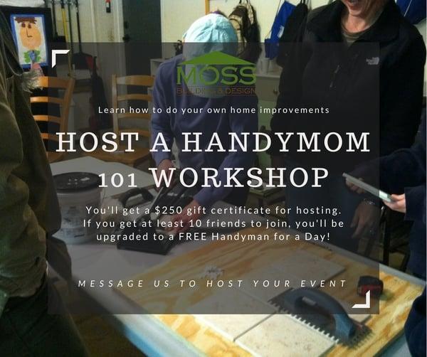 HOST A HANDYMOM 101 WORKSHOP