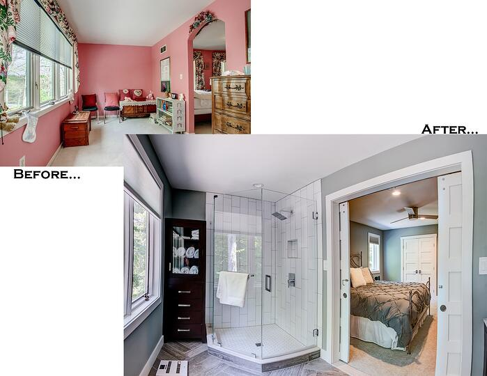 Hawkins Bathroom Before and After