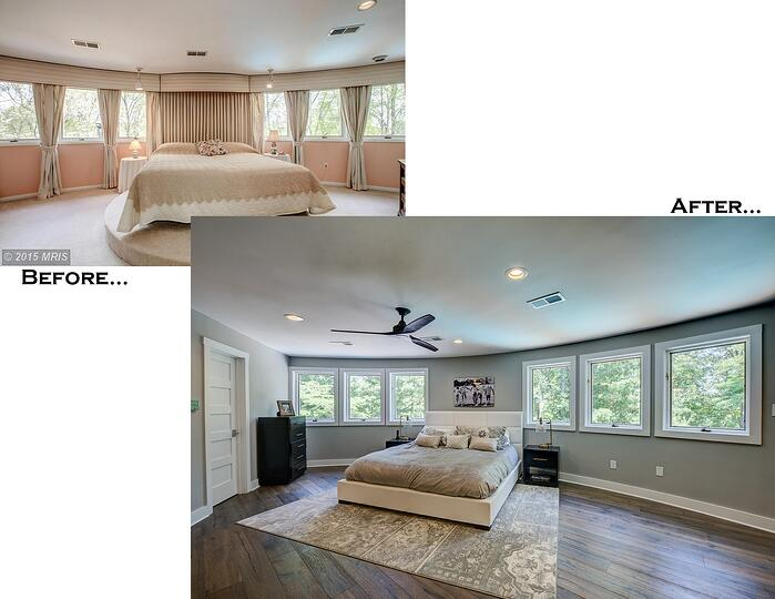 Hawkins Bedroom Before and After