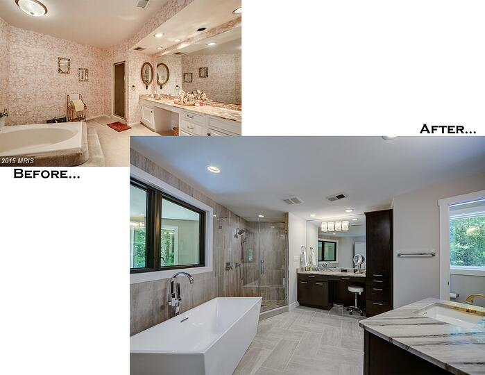 Hawkins Master Bath Before and After