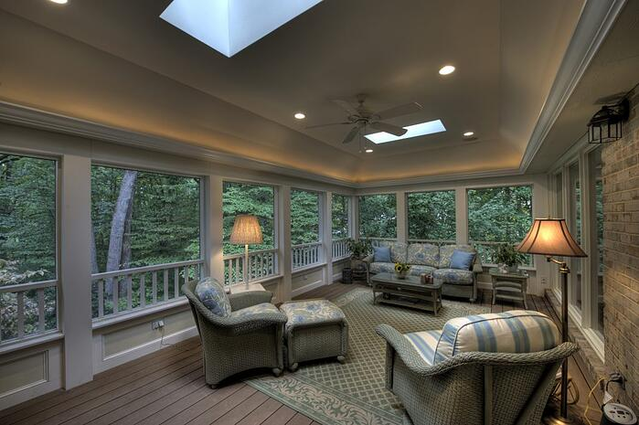 screened in porch and deck designs