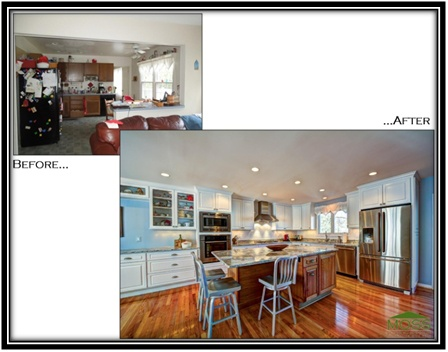 before and after kitchen design