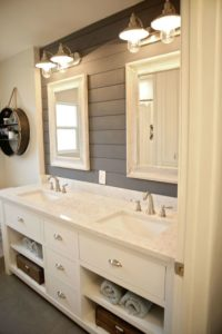 Bathroom backsplash shiplap
