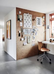 Cork Accent Wall