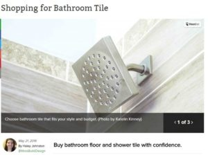 shopping for bathroom tile