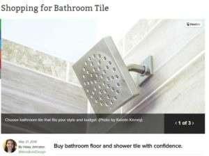 shopping for bathroom tile