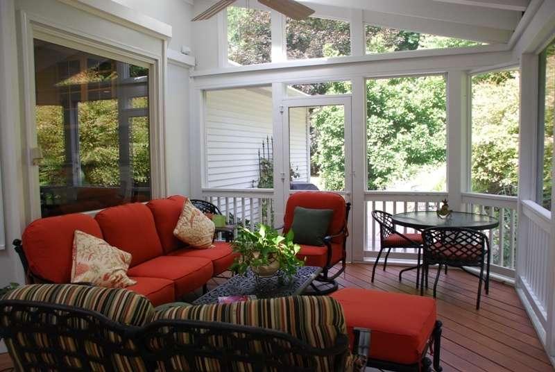 screened porch, fall