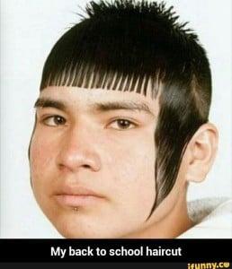 back to school, bad haircut