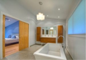 Wood Accents in Bathroom