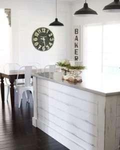 Shiplap design kitchen island