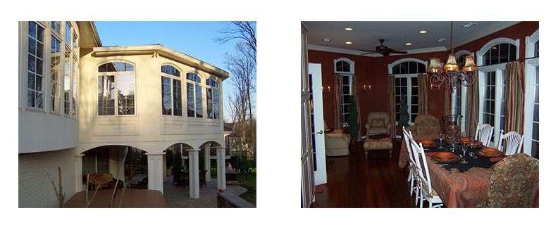 Sunroom addition in Chantilly, VA