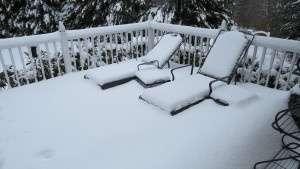 snowed in, deck