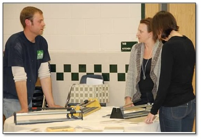Northern Virginia Moms learn to tile