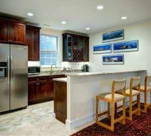 Basement Wet Bar and Kitchen