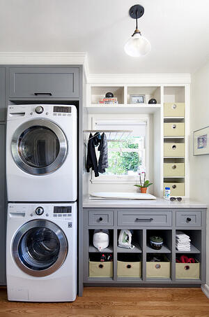 Vertical Small Space Laundry Room