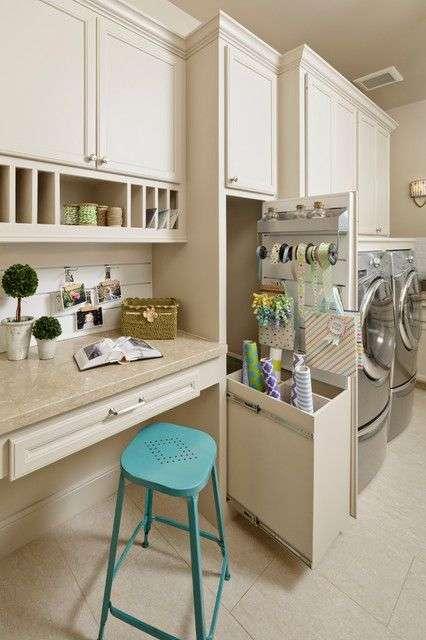 Multifunctional efficient laundry room