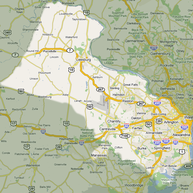 We service the counties of Fairfax, Loudoun, and Arlington in Northern Virginia