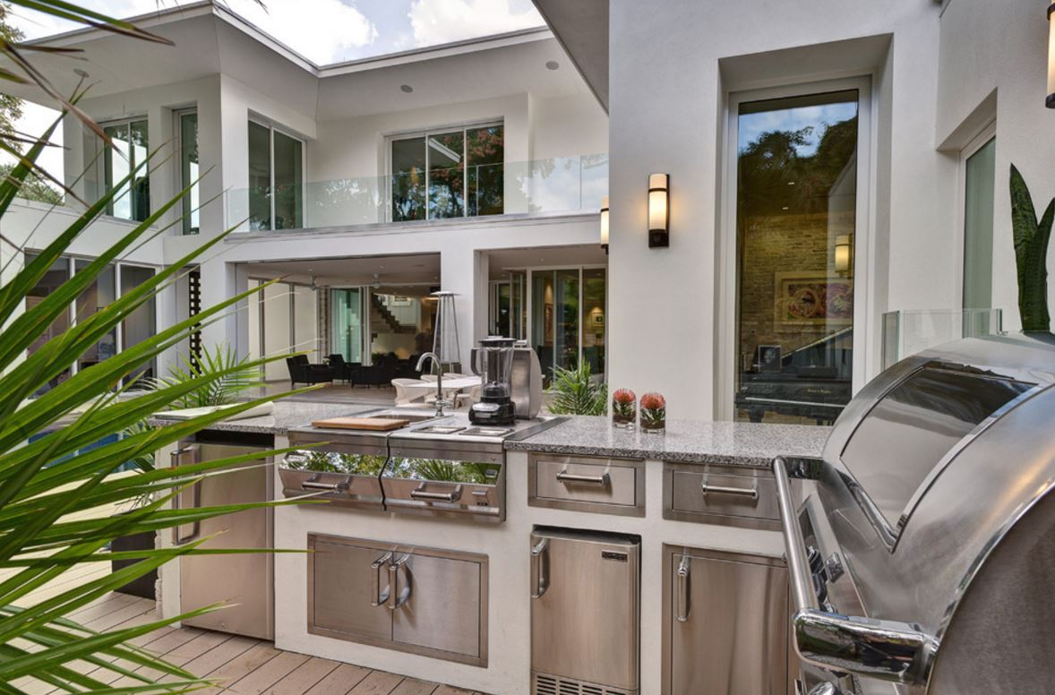 Outdoor kitchen remodel addition