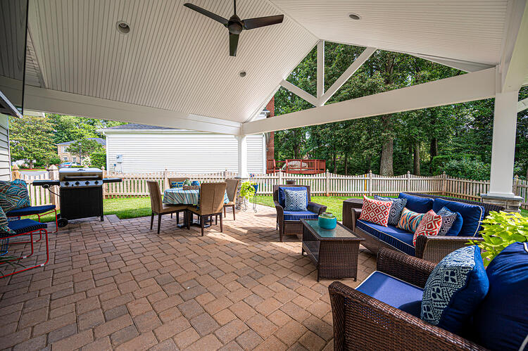 Back Porch with Cathedral Ceiling