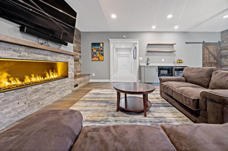 Long Gas Fireplace