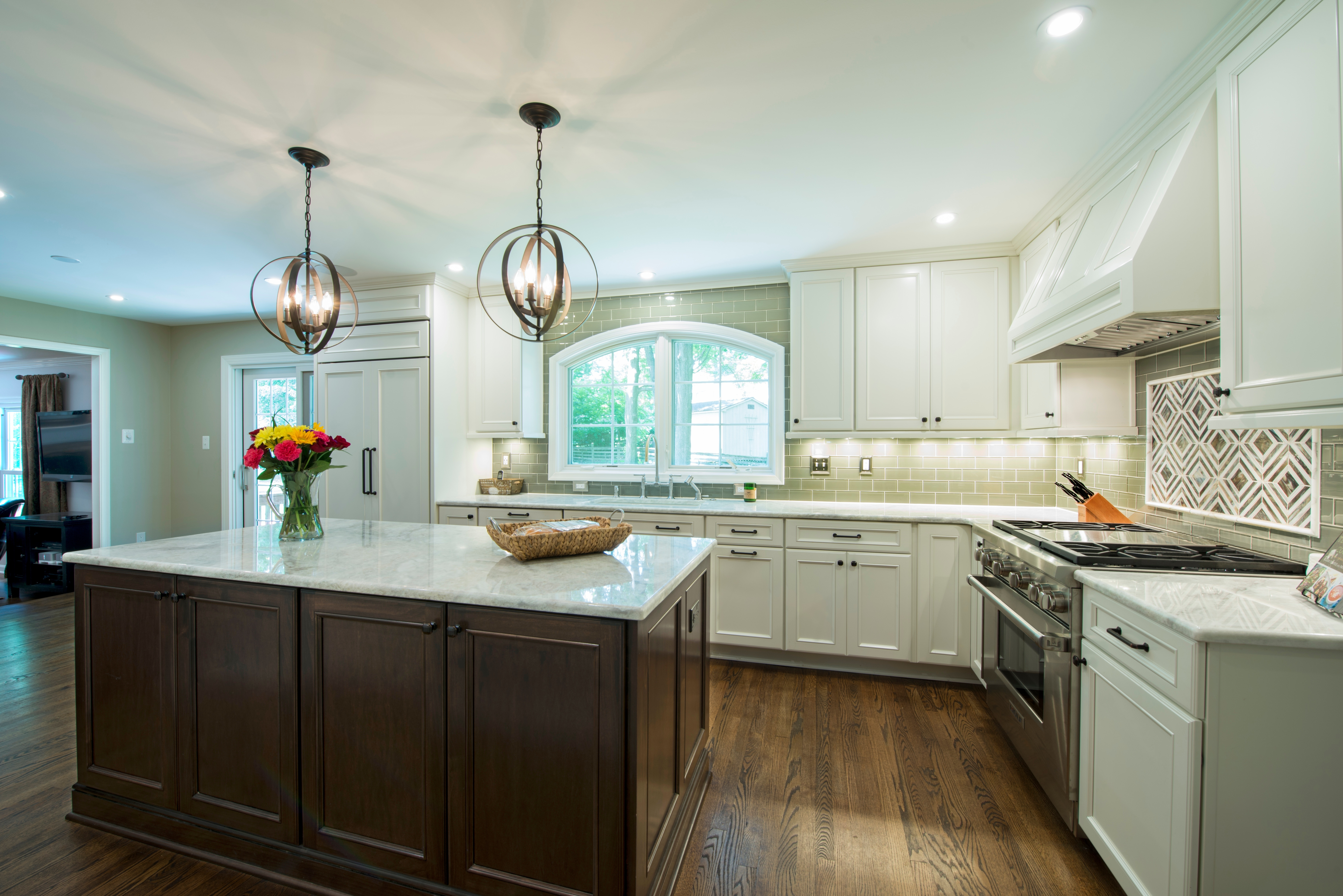 This third example of a transitional kitchen doesnt disappoint similar to our first example this gorgeous kitchen remodel incorporates white and brown