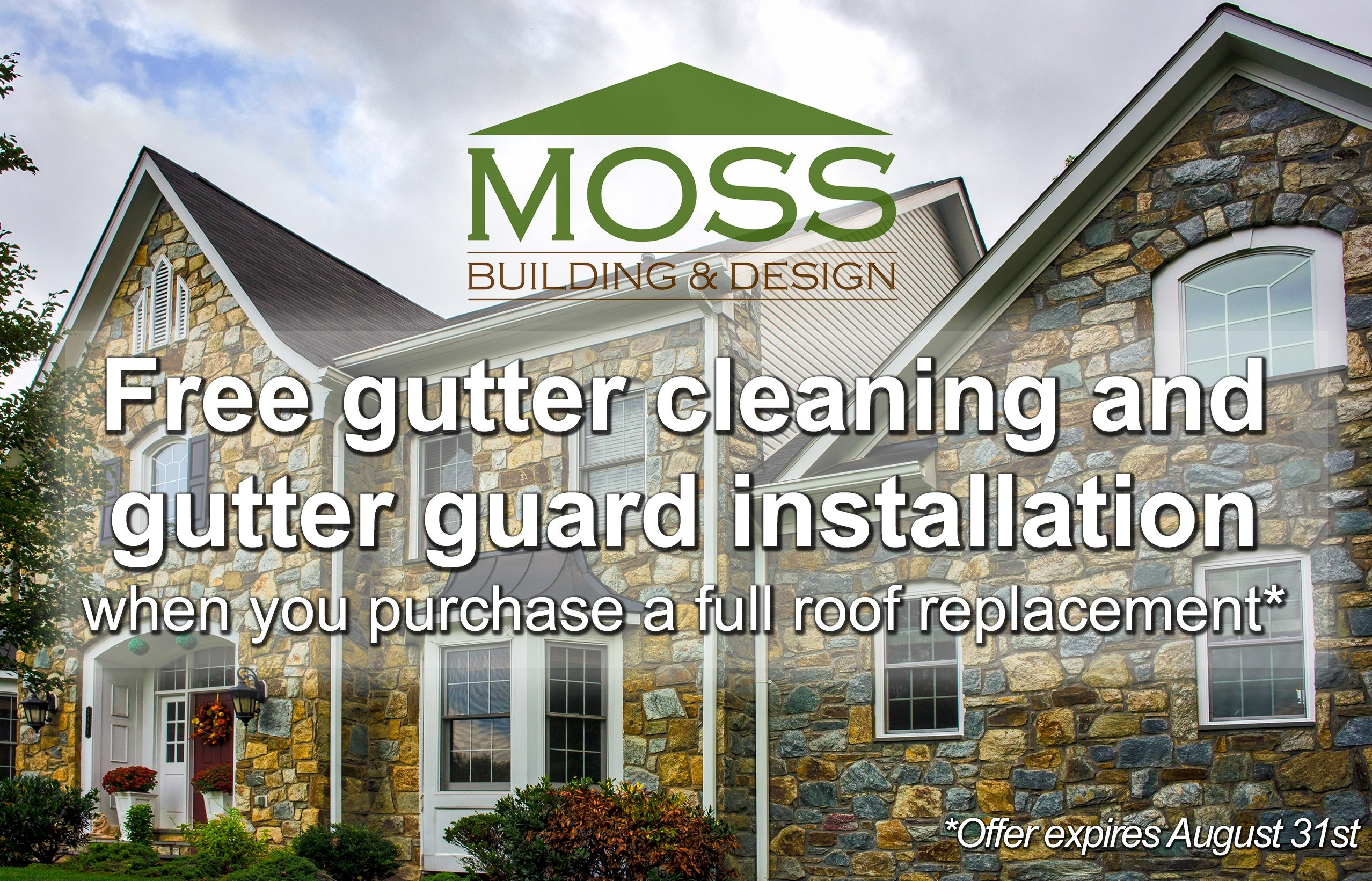 Roof replacement free gutter guards