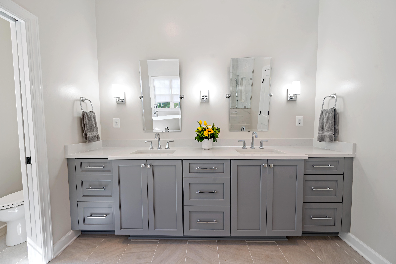 Grey Double Vanity Cabinets