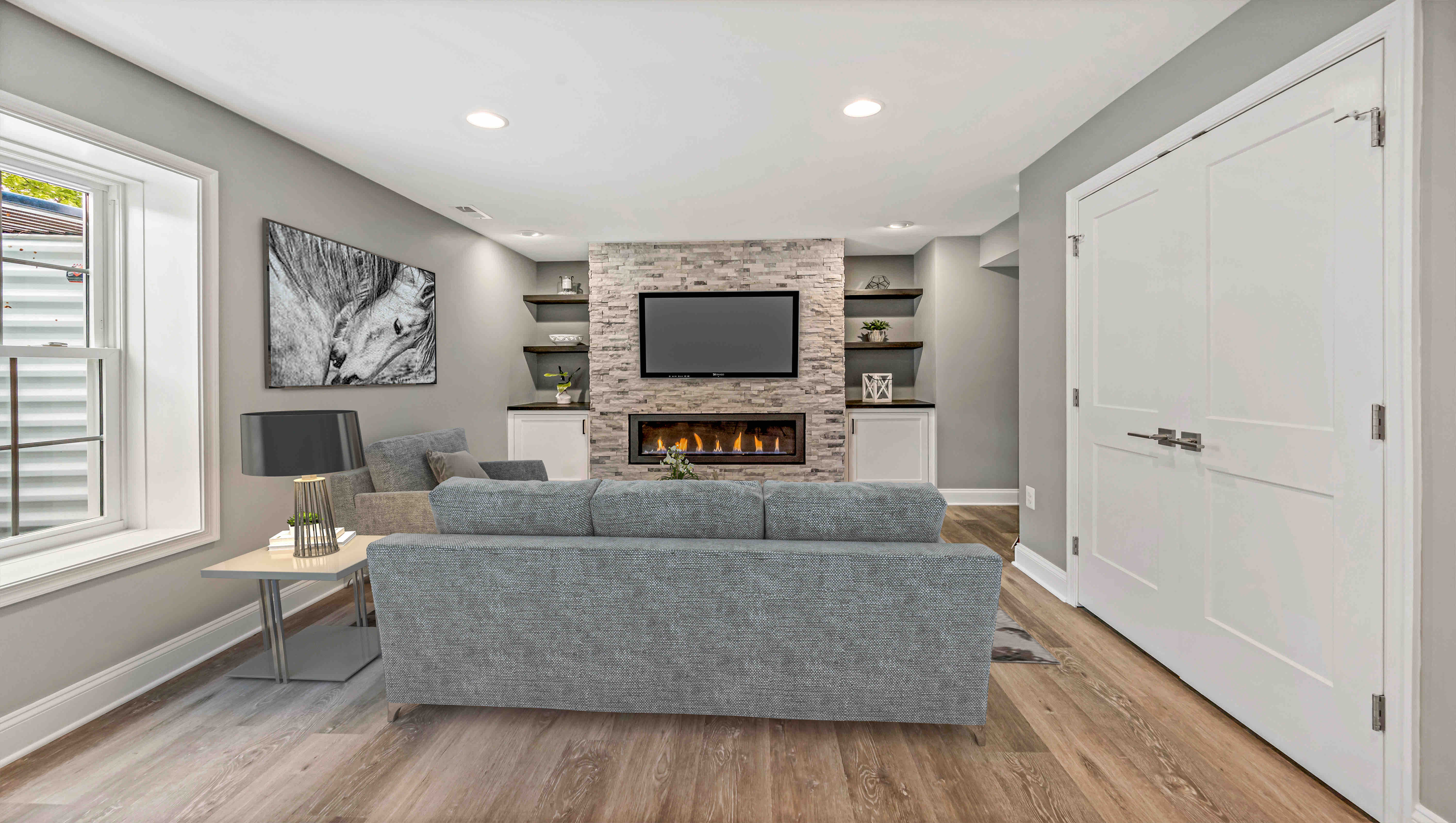 Staged Fireplace Space
