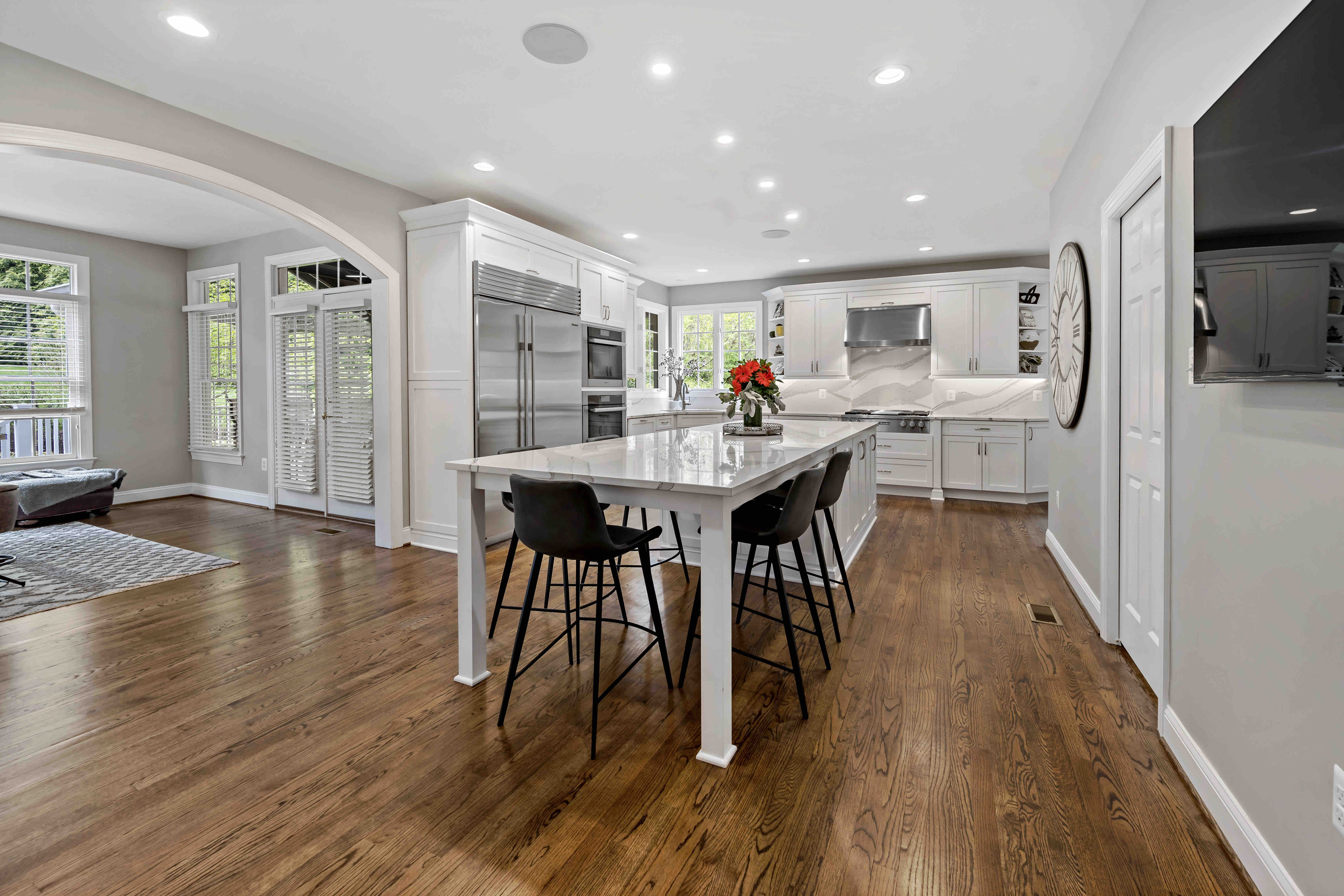 A Stunningly Bright Kitchen and Functional Laundry Room Complete this Oakton Home's Main Level
